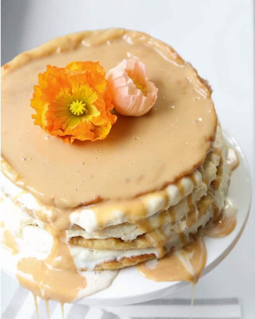 churro layer cake overhead