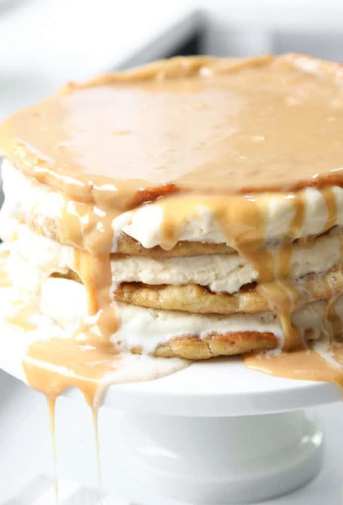 churro layer cake side view