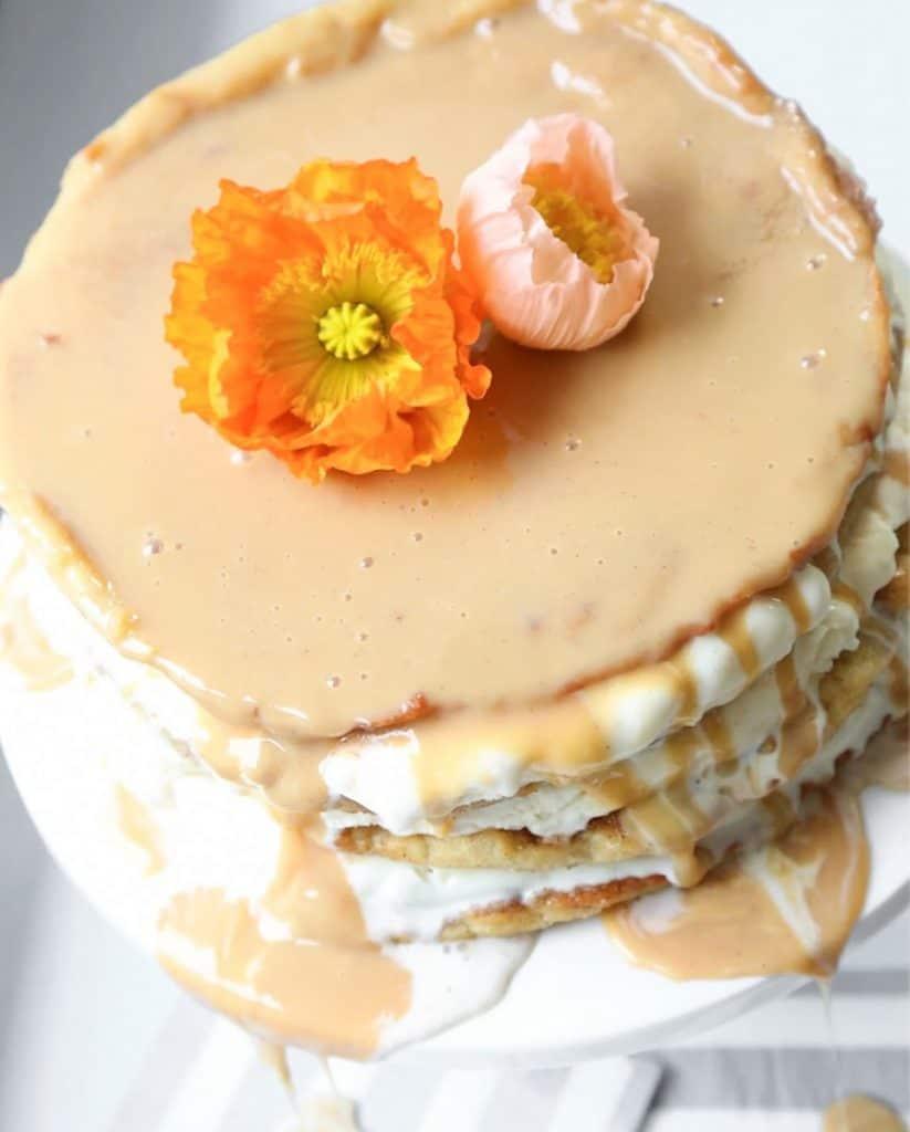 churro layer cake