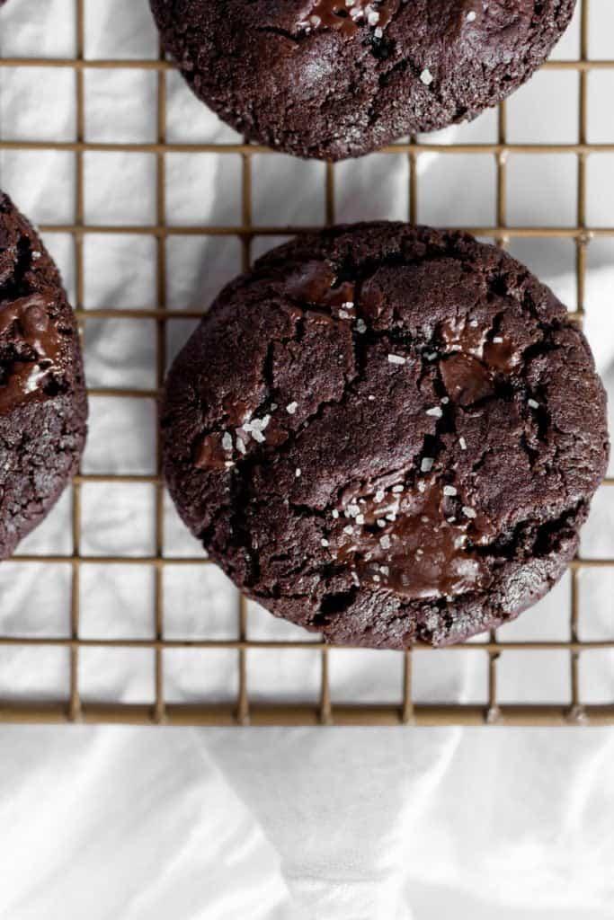 overhead closeup of cookie