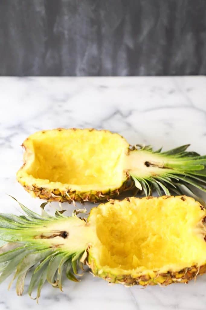 hollowed out pineapple