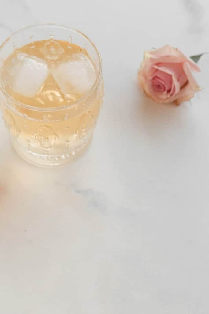 cocktails, roses, and watermelon balls