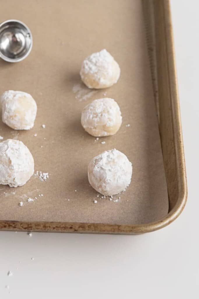 gooey butter cake cookies with ribbons and jingle bells