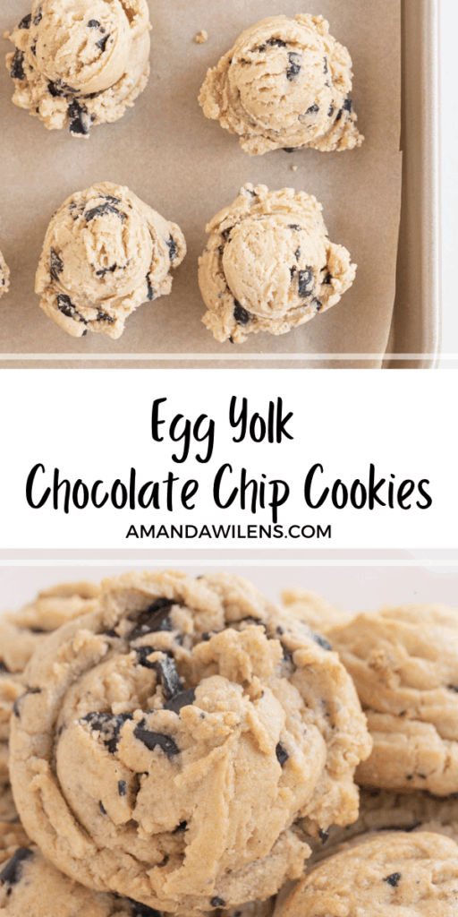 egg yolk cookies pinterest pin