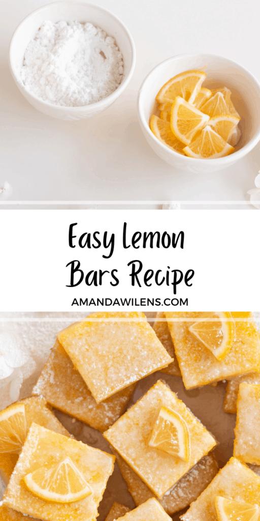 lemon bar recipe pin graphic