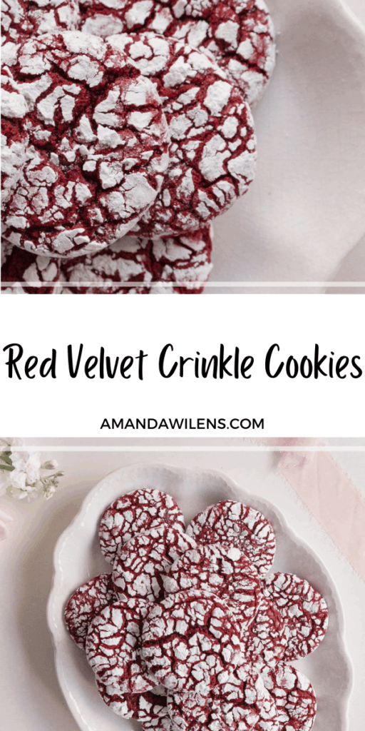pinterest pin for crinkle cookies