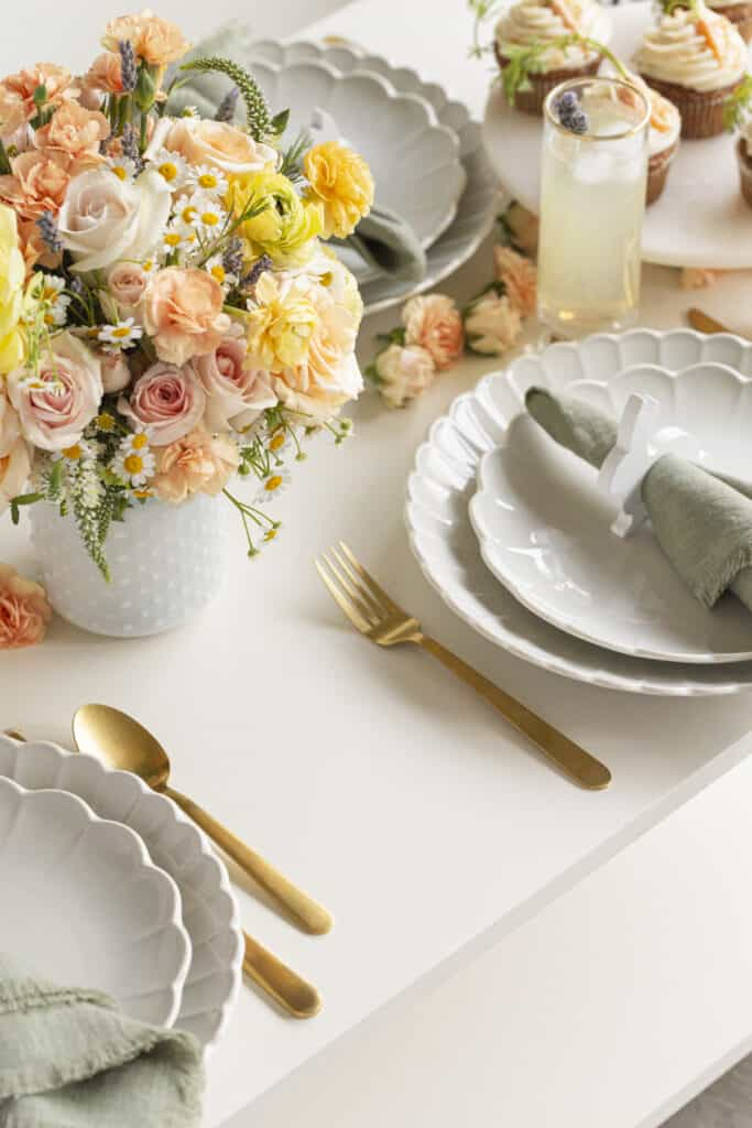 Easter tabletop decor