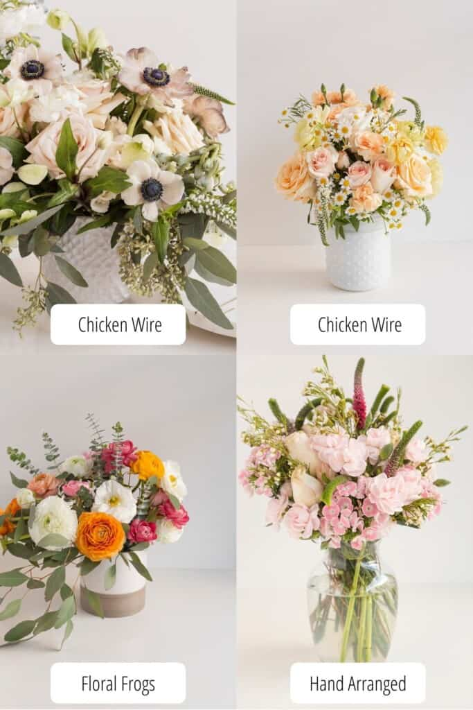 complex floral arrangement making
