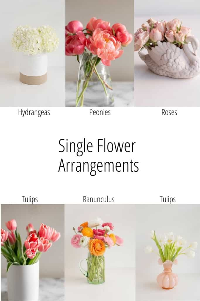 single flower arrangement grraphic