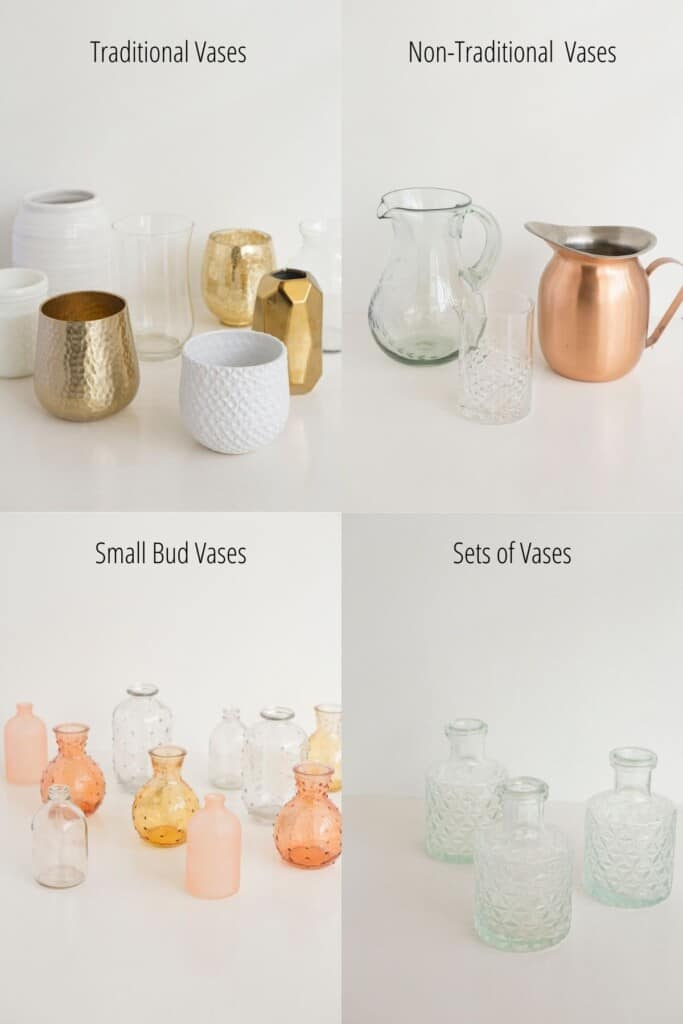 types of vases graphic