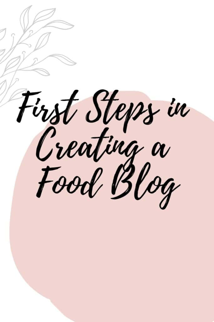 Graphic reading - First Steps in Creating a Food Blog