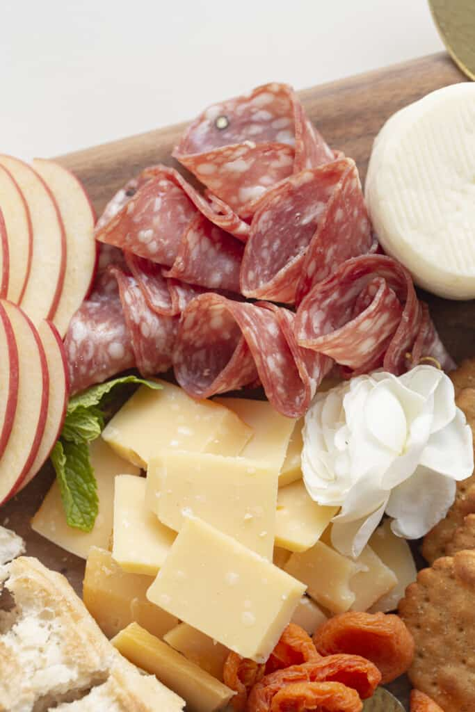 salami shapes for a cheese board