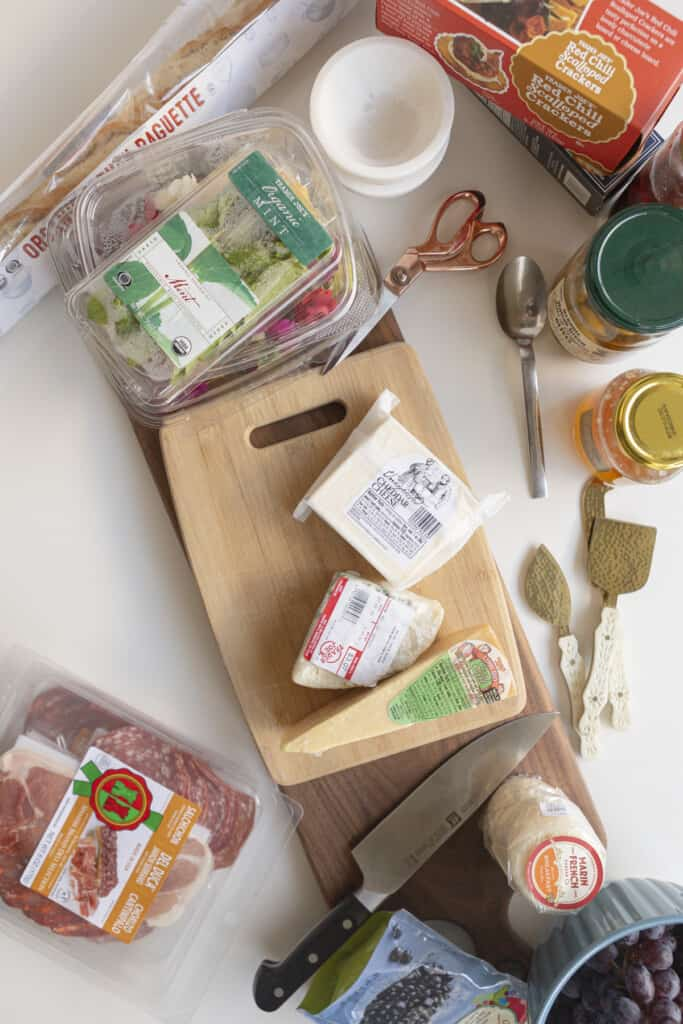 ingredients for your shopping list for a charcuterie board