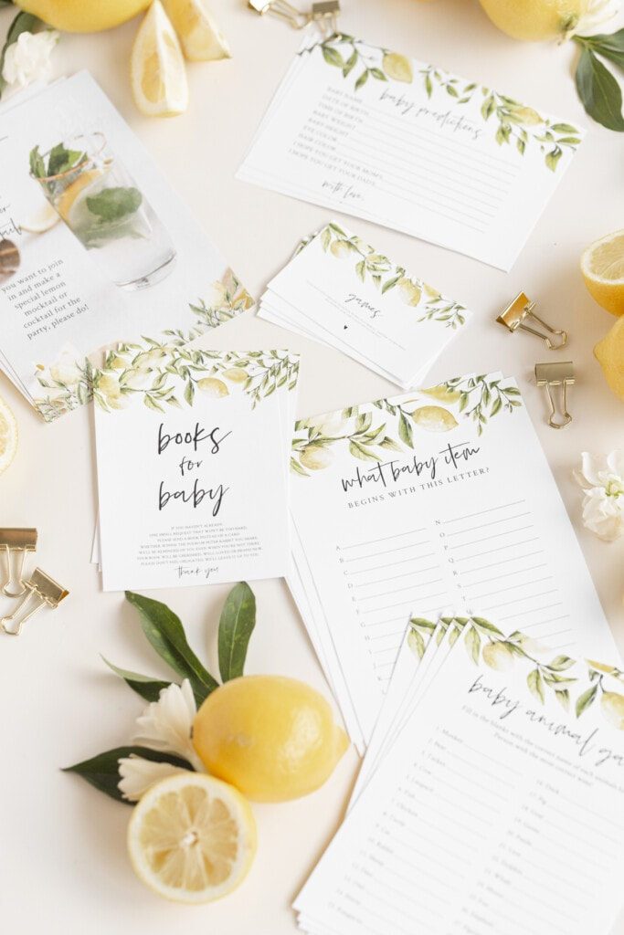virtual baby shower games print outs